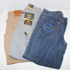 Boys Pants Bundle Jeans Khakis and Joggers Medium